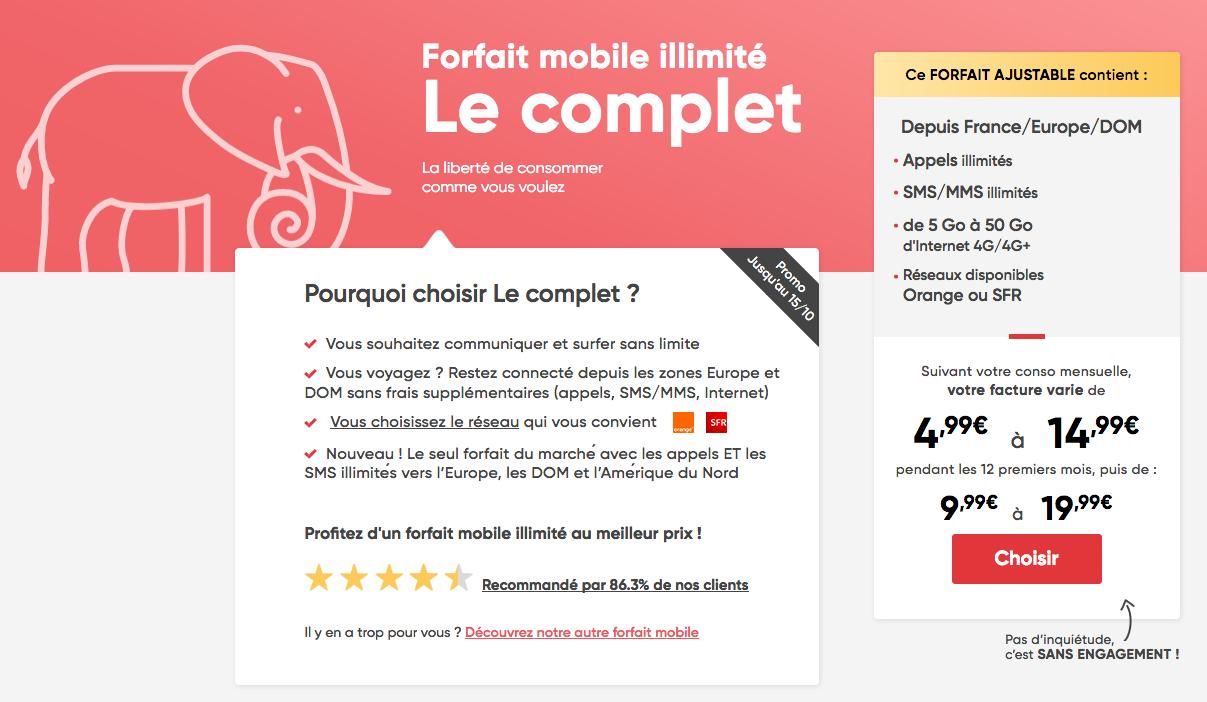 Forfait mobile: illimité à 4,99€ par mois, au choix via Orange ou SFR 🔥