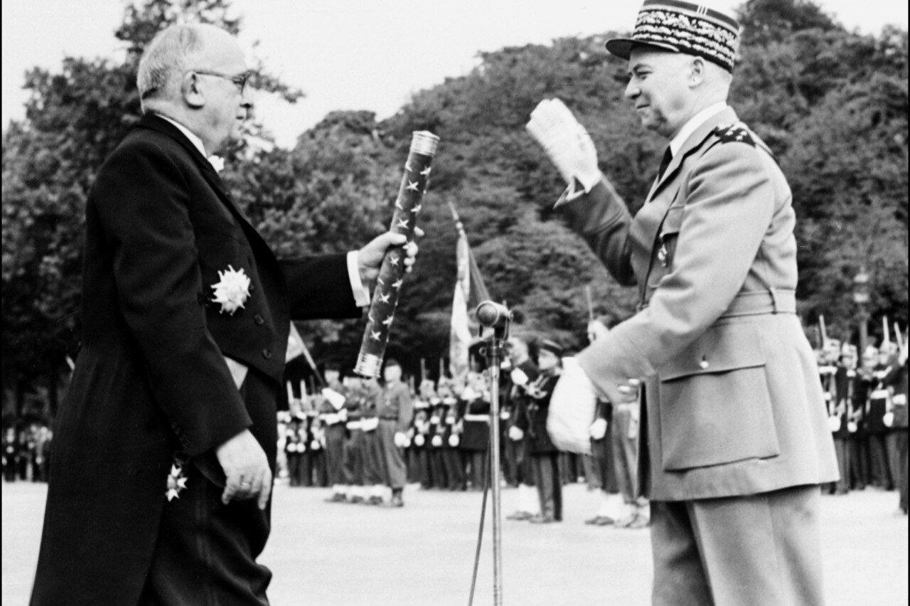 Gilets jaunes : qui est le maréchal Juin, dont le monument commémoratif a été dégradé – Le Parisien