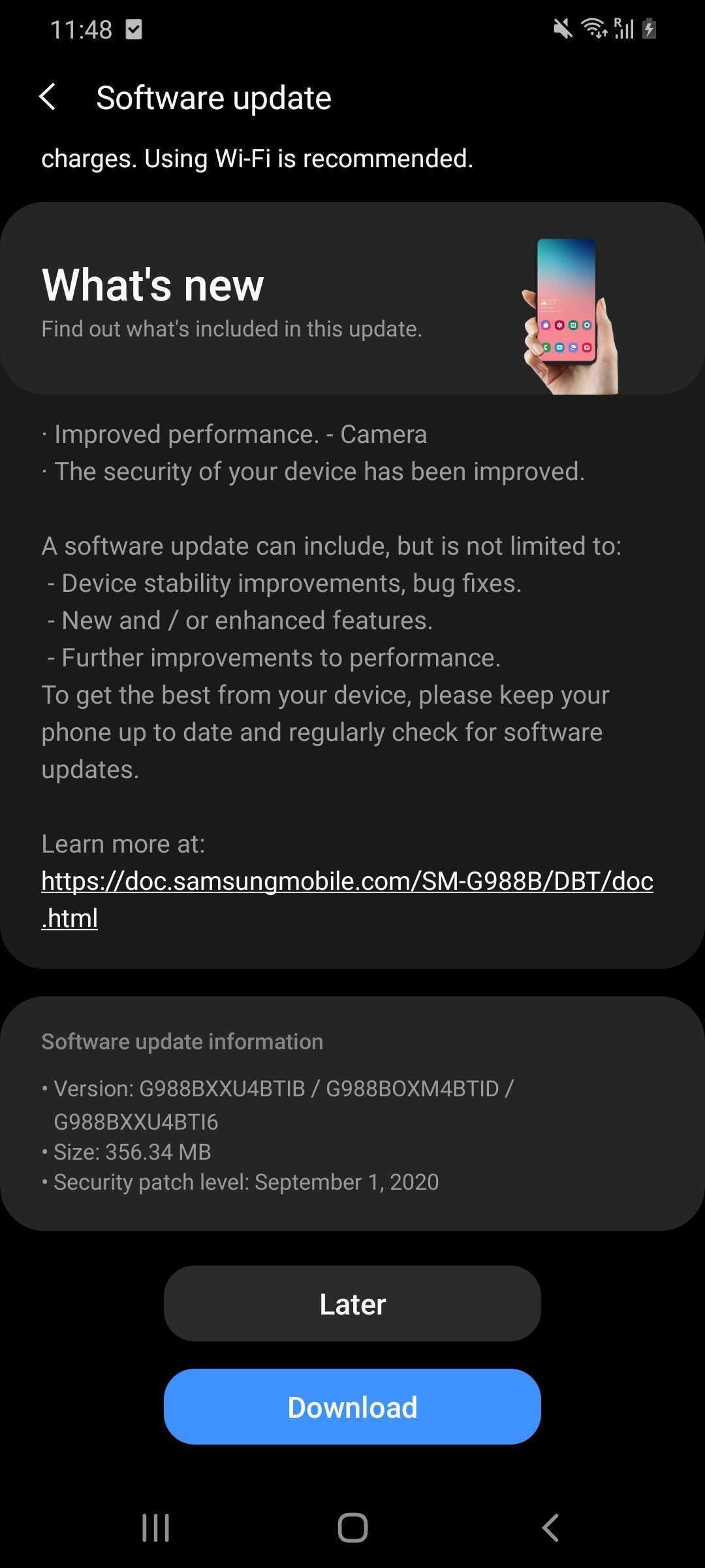 S20 Ultra Update